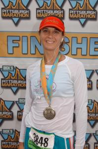 Pittsburgh Marathon finish 2010.