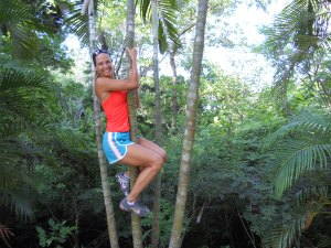 Monkeying around in Roatan, Honduras.