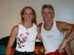 Me & Tim, Yoga on high, Columbus, Ohio - 2005.